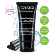 Blackhead Remover Black Mask Deep Cleansing Peel-off Mask for Blackheads Remove,Tearing Style Deep Cleansing Purifying - Activated Charcoal, 50ml by