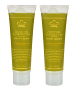 Nubian Olive Oil and Green Tea Hand Cream (Pack of 2) With Avocado Oil and Green Tea, 120ml Each