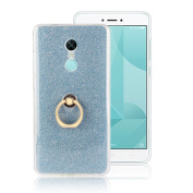 Moonmini Xiaomi Redmi Note 4X. Case Cover Sparkling Slim Fit Soft TPU Back Case Cover with Ring Grip Stand Holder 2 in 335 Hybrid Glitter Bling Bling TPU phone Case Cover