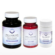Relumins Advance Nutrition Gluta 1000, Vitamin C MAX & Booster Capsules - 3 Piece ULTIMATE WHITENING SET - NEW AND IMPROVED NOW WITH ROSE HIPS