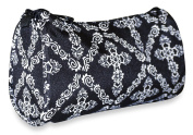 Ever Moda Black Cross Cosmetic Makeup Bag