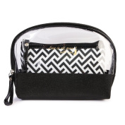 Riah Fashion Women's Love is All Around You Clear Cosmetic Bag