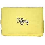 Personalised Waffle Weave Unisex Cosmetic, Makeup, Toiletry Bag