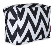 Ever Moda Black Chevron Cosmetic Pouch