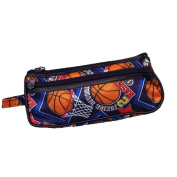Basketball Toiletry Travel Bag Case 2 Zipper Gift - Cosmetics, Jewellery, Accessories, Electronics