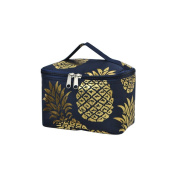 Southern Pineapple Print NGIL Cosmetic Case Gold Collection