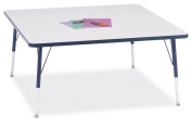 Berries Square Adult Activity Table Grey with Navy
