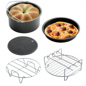 (Set of 5) Air Fryer Cooking Accessories for Gowise Phillips and Cozyna, 18cm Diameter for 3.3l
