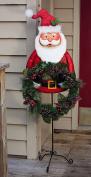 Evergreen Santa Garden Stand Wreath Holder