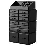 Readaeer Makeup Cosmetic Organiser Storage Drawers Display Boxes Case with 12 Drawers