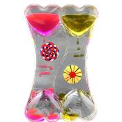 Adorox Liquid Bubble Drop Motion Wheel Zig Zag Desk Toy (Double Heart
