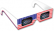 Rainbow Symphony Fireworks Glasses - American Flag # 1 Design, Package of 50