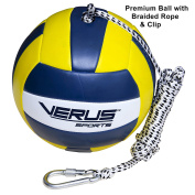 Verus Sports Replacement Tetherball Ball with Heavy Duty Rope & Clip