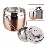 Insulated Lunch Box,Stainless Steel Vacuum Bentos / Food Carrier /Food Container / Taffin Lunch Box Containers Portion Control Containers,Hold Warm for 3 Hours,1.5L