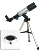 Twinstar EclipseFINDER 50mm Compact Refractor Telescope, Silver