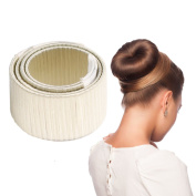 Smilco 2 Pcs Hair Styling Disc Donut Bun Maker Former Foam French Twist Hairstyle Clip DIY Doughnuts Hair Bun Tool