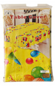 Yellow, Ballons & Conffe Party Tavble Cover (150cm x 230cm