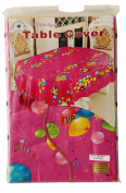 Pink & Ballons / Conffetti Party Table Cover (150cm x 300cm