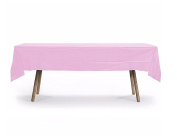10 PACK Rectangular Heavy Duty Table Cover, Premium Plastic Tablecloth, Plastic Table Cover Reusable
