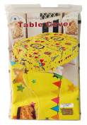 Yello with Cake / Hearts Party Cover Table (150cm x 300cm