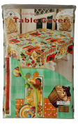 Green & Cake Party single Table Cover (150cm x 300cm