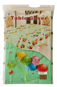 Green & Ballons Conffetti Party Table Cover, (150cm x 300cm