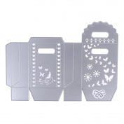 Scrapbooking Bowknot Candy Gift Box Butteryfly Metal Cutting Dies Stencils