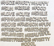 Creative Embellishments Social Hashtags Laser Cut Chipboard - 22 piece set