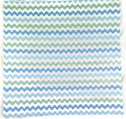 Blue and Green Ric Rac 12x12 Scrapbook Paper - 4 Sheets