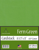 Fern Green Cardstock - 22cm x 28cm - 29kg Cover - 50 Sheets