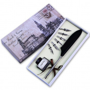 Antique Dip Feather Pen Set Real Feather Calligraphy Pen Set Writing Quill Dip Pen