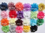 YYCRAFT Pack Of 23 Large 7.6cm Chiffon 4D Flower-U Pick