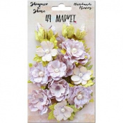 Shimmer & Shine Flowers 2.5cm - 3.8cm 19/Pkg-Lilac Melange