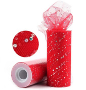 Glitter Sequin Tulle Rolls 25 yards 15cm Spool Tutu Wedding Decoration DIY Crafts Party Supplies
