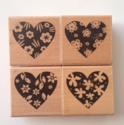 4 pcs Heart Flower Lace Scroll Rubber Stamps Cardmaking Scrapbooking DIY Wedding Beautiful Tools Supplies
