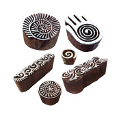 Beautiful Designs Spiral and Healer Hand Wood Print Stamps