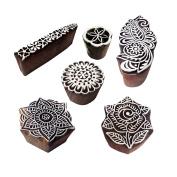 Fancy Motif Rose and Mandala Wood Stamps for Printing