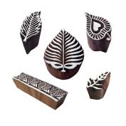 Designer Pattern Border and Leaf Wood Block Stamps