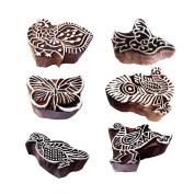 Artisan Designs Bird and Peacock Wooden Printing Blocks