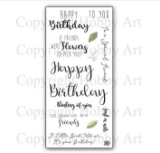 Hobby Art Clear Greetings for Friends Stamps CS158D