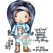 La-La Land Cling Stamps 11cm x 8.9cm -Coffee Break Marci