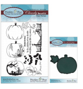 Prickley Pear Pumpkin Patch Clear Stamp and Die Set - CLR008 PPRS-D008 - Bundle 2 Items