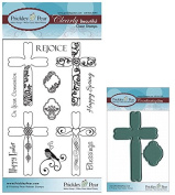 Prickley Pear Crosses Clear Stamp and Die Set # 2 - CLR032A & PPRS-D032 - Bundle 2 Items