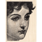 Woman's Face Rubber Stamp Molly