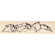 Desert Mountains Rubber Stamp Scenic Stamp