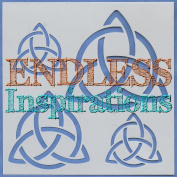 Endless Inspirations Original Stencil, 15cm x 15cm , Celtic Trinity Knot 2