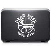 Dead Deer Walking Hunting REMOVABLE Vinyl Decal Sticker For Laptop Tablet Helmet Windows Wall Decor Car Truck Motorcycle - Size (10 Inch / 25 Cm Tall) - Colour