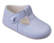 Luxury British Made Baby Boy Sky Blue, Navy Blue, Cream/Ivory Special Occassions Wedding Christening Baypod Shoes by Early Days