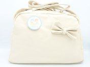 gamberritos – Bag Maternal Leatherette Bow Tie 9838 Beige 42 x 30 x 15 cms
