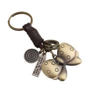 Mxixi Creativity Fashion Exquisite 3D Animal Shape Purse Pendant Handbag Charm Alloy Shell Keychain Key Ring Keyfob